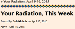 1. BUTTON- Your Radiation, April 9-16, 2015