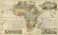 __AFRICA 1710, to Charles Earl of Peterborow and Monmouth,&. This Map of Africa, 1710 moll (1280X785)