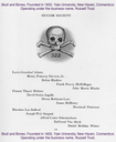 _R1. 00.07.22 Skull and Bones, Founded in 1832, is an elite secret society at Yale University in New Haven, Connecticut. Operating under the business name, Russell Trust