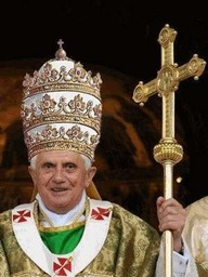 _R1. 00.25.25 The Crown of Ba'al, aka Papal Tiara and Triregnum is a three-tiered jewelled papal crown and symbol of claimed papal supremecy since the 16th Century