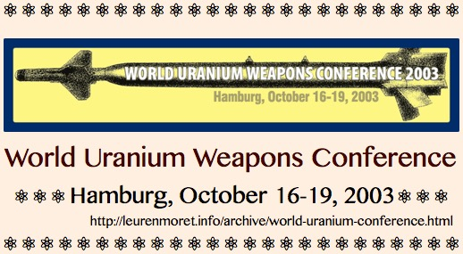 _TITLE PLATE, World Uranium Conference 2003