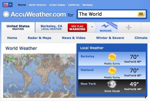 Accuweather.Com World Weather Cover
