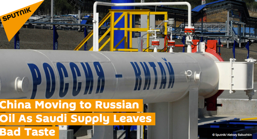 Pic 1.  HEADLINE- China Moving to Russian Oil As Saudi Supply Leaves Bad Taste