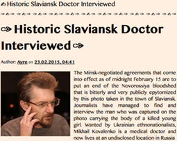 Historic Slaviansk Doctor Interviewed