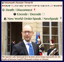 LMGNC - Yatsenyuk's Russian Threat