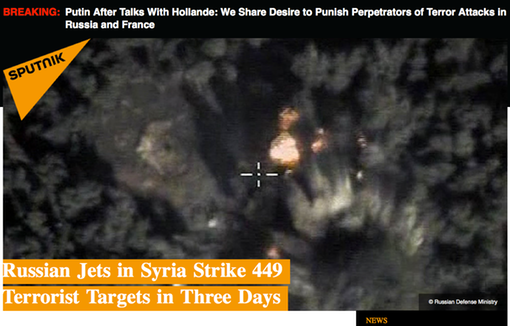 Pic 1. 20151126 Russian Jets in Syria Strike 449 Terrorist Targets in Three Days