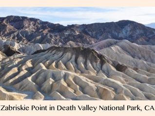 Pic 1. Zabriskie Point in Death Valley National Park, California