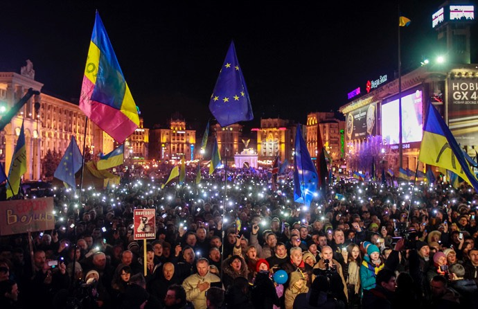 EU-UKRAINE/PROTESTS