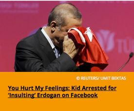 Pic 2. You Hurt My Feelings- Kid Arrested for 'Insulting' Erdogan on Facebook