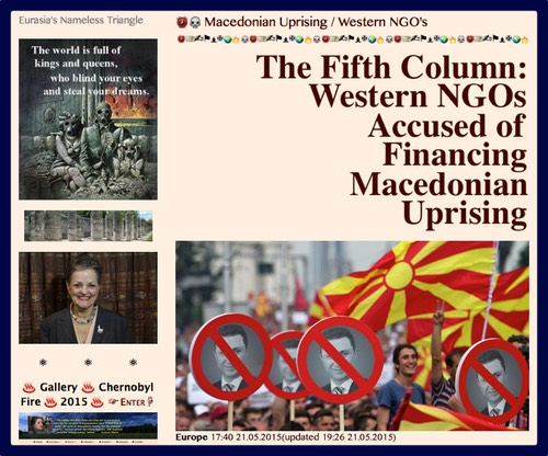 PRESS PLATE- 20150521  The Fifth Column- Western NGOs Accused of Financing Macedonian Uprising