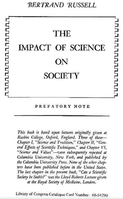 The Impact of Science on Society - Bertrand Russell 5