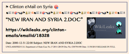 TITLE- Clinton, eMail on Syria (screen scrape)