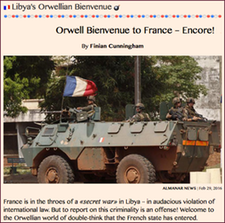 TITLE- Libya's Orwellian Bienvenue