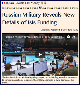 TITLE- Russia Reveals ISIS' Money