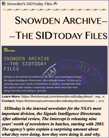 TITLE- Snowden Archive ——The SidToday Files