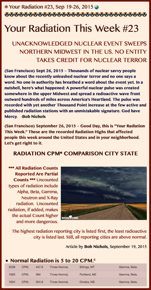 TITLE- Your Radiation #23, Sept 19-26, 2015