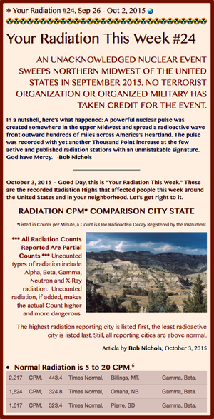 TITLE- Your Radiation #24, Sep 26 - Oct 2, 2015