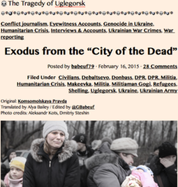 TITLE PLATE- 20150216 The Tragedy of Uglegorsk