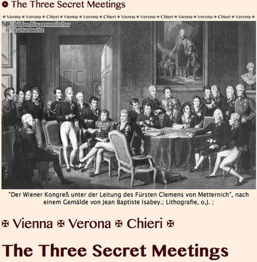 TITLE PLATE- 3 Secret Meetings