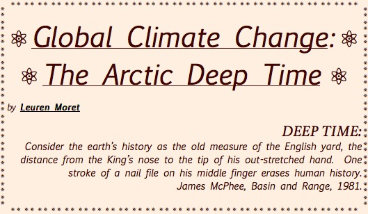TITLE PLATE- Global Climate Change, The Arctic Deep Time