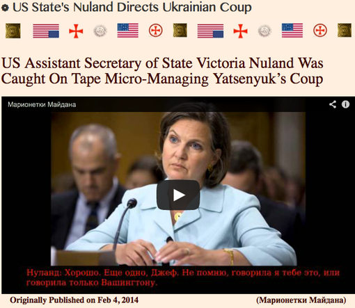 TITLE PLATE- State Dept Nuland's Ukranian Coup